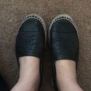Chanel espadrilles black size 8